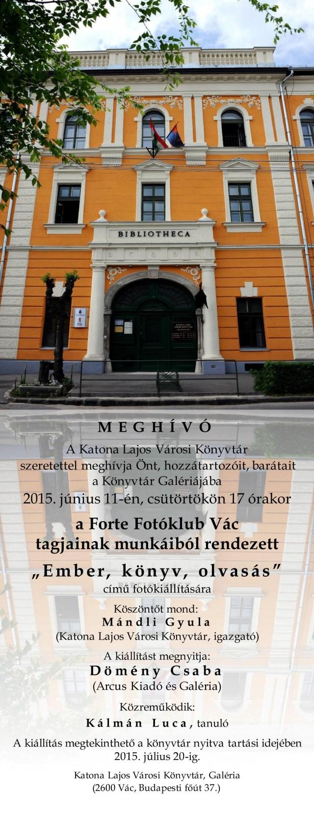 Könyvtár FFV meghívó