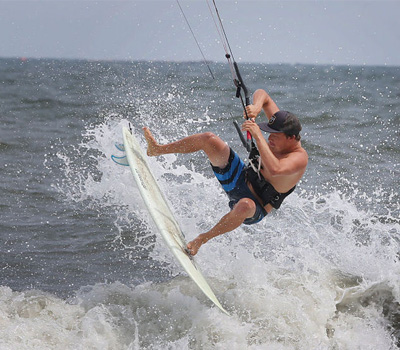 sandy hook beach kitesurfing