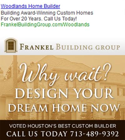 Frankel Building Group search engine optimization