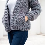 Chunky Crochet Bomber Cardigan With Pockets Free Pattern Video Tutorial For The Frills