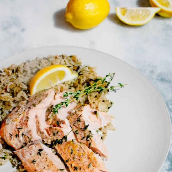 Faster than Fast Food // quick + healthy baked salmon (in less than 20 mins)