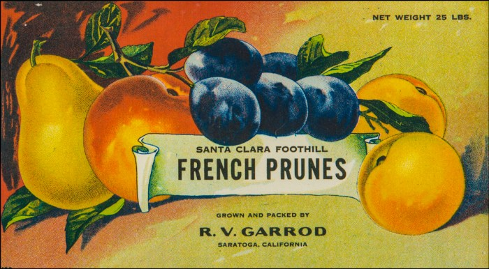 Garrod's French Prunes