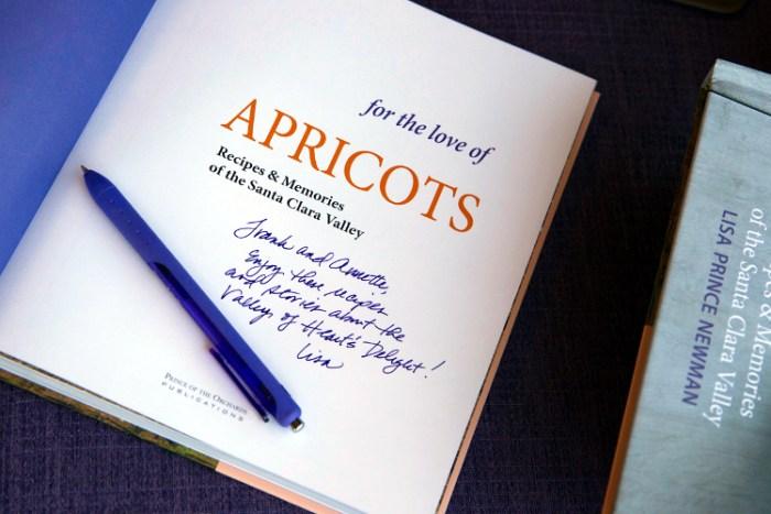 Autographed cookbook
