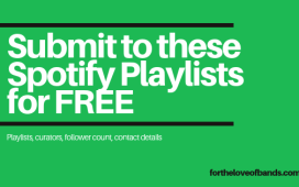 Submit music to get on playlists and get music reviews