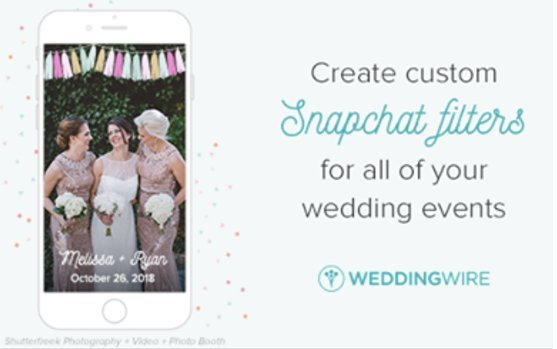 #WeddingWednesday: Wedding Festivity Fun with WeddingWire ft. the Snapchat Geo-Filters
