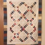 paper pieced flying geese quilt