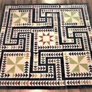 paper piecing, Mosaic quilt, paper pieced flying geese, foundation quilting