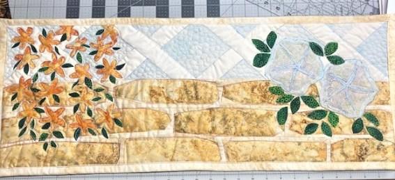 garden wall-applique-paper pieced quilt