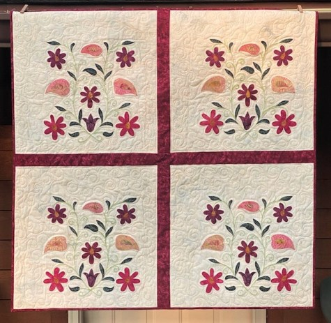 thread painting and applique