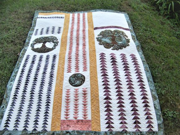 3d flying geese quilt