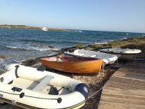 Boats in Torre Colimena (a small town on the heel of the boot!)