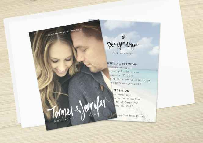 Wedding Invitations Made Out Of Selfies
