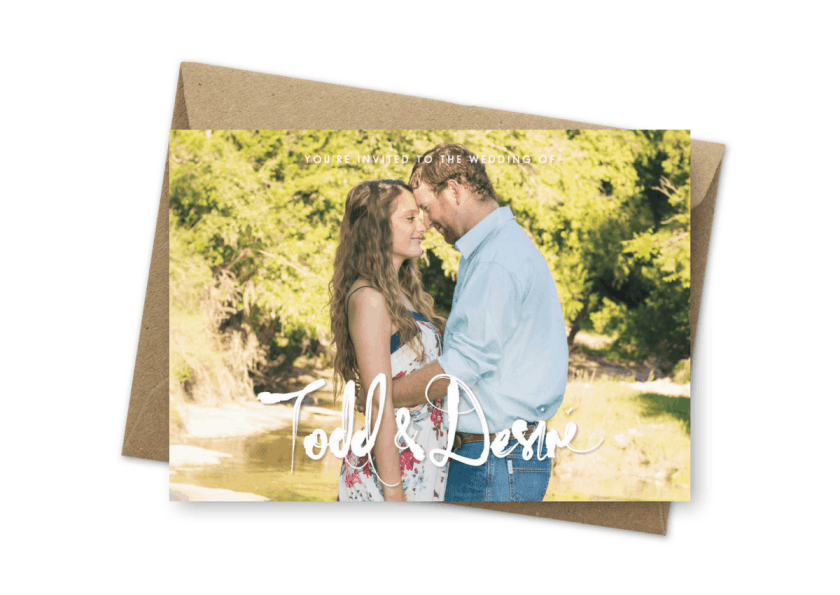 Photo Wedding Invitations Sydney