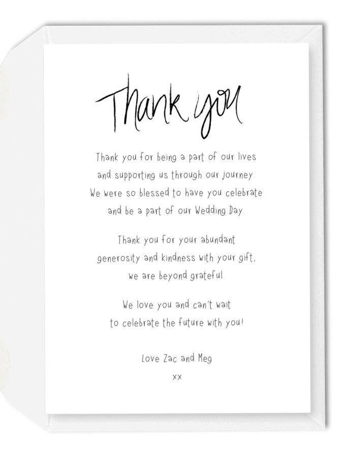Thank You Wording For Wedding Invitations Wedding Invitation Sample – Wedding Thank You Card Wording