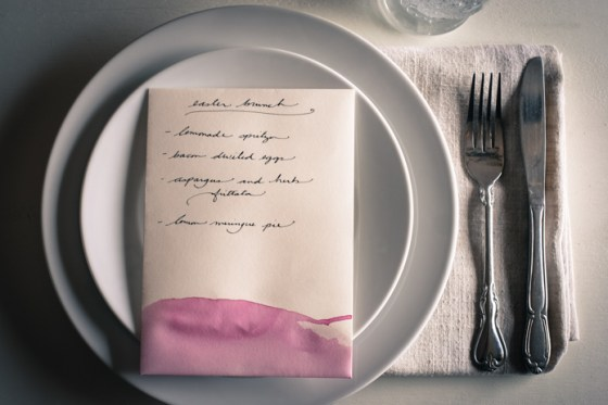 Hand Dyed Easter Menu