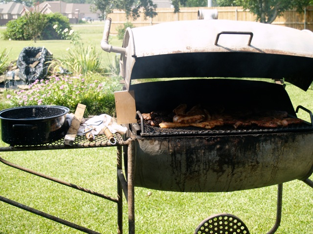 Dear Old Faithful: Paw-paw's barbecue pit in Lake Charles, Louisiana