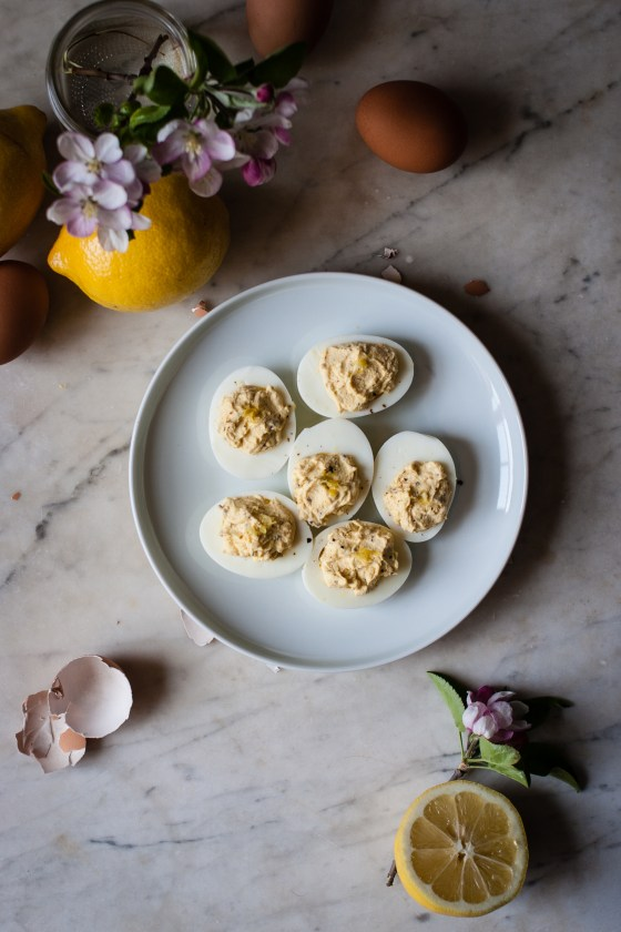 Crème Fraîche Deviled Eggs | for the love of the south