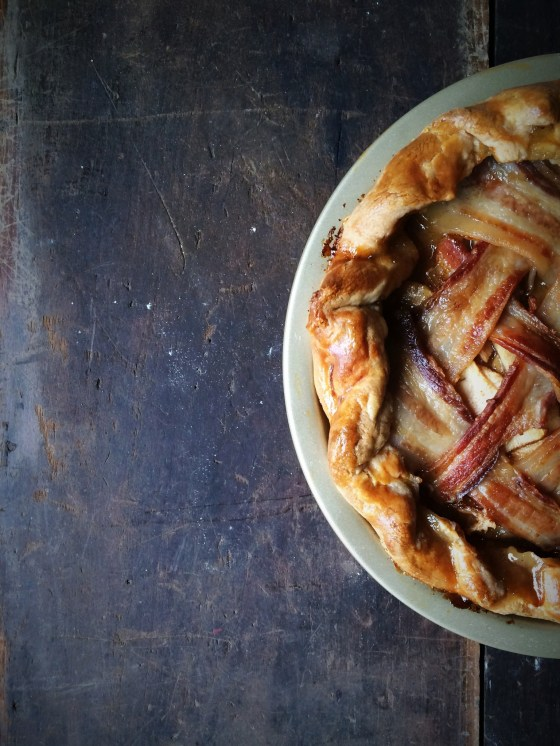 Bacon Latticed Apple Pie | for the love of the south