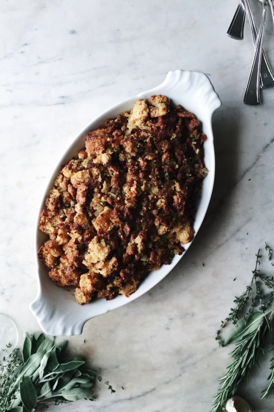 Bacon Cornbread & Spicy Sausage Dressing | for the love of the south