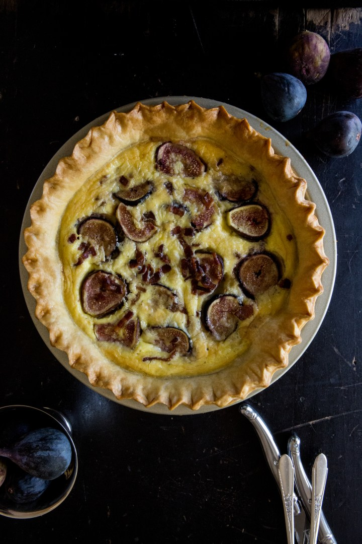 Fig & Bacon Quiche | for the love of the south