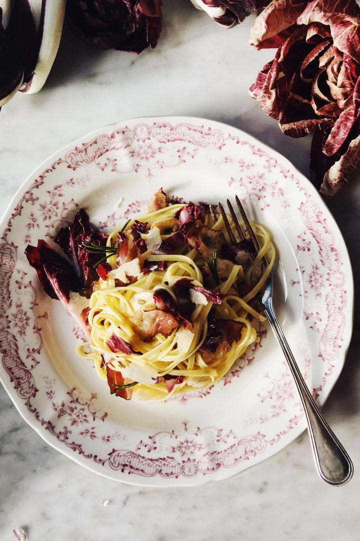 Grilled Radicchio & Balsamic Pasta | for the love of the south