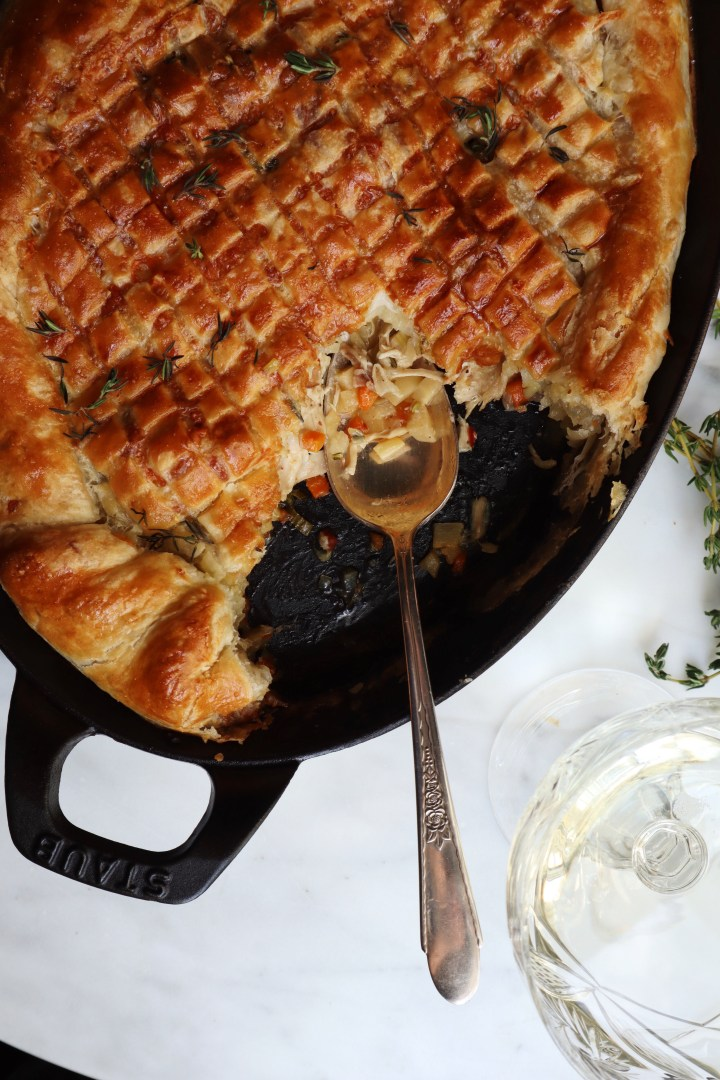 Cast Iron Chicken Pot Pie | for the love of the south