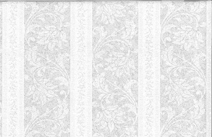 Striped wallpaper white