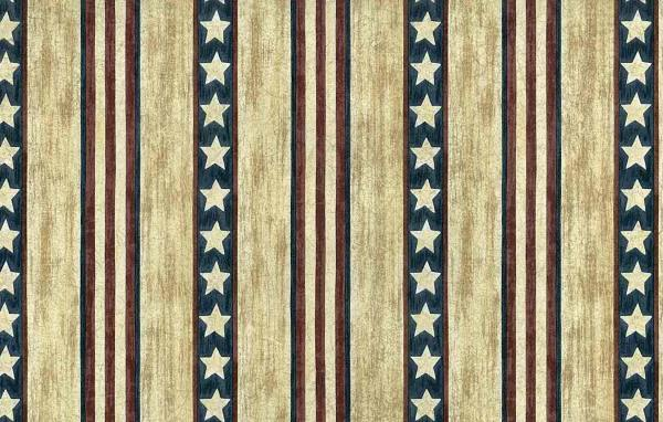 Stars Stripes Vintage Wallpaper Red Tan Americana RG22746 D/Rs