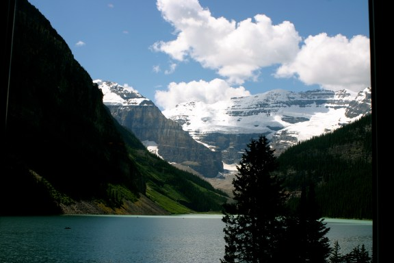Lake Louise From Inside the Hotel
