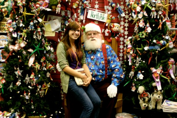 Sitting on Santa's Lap