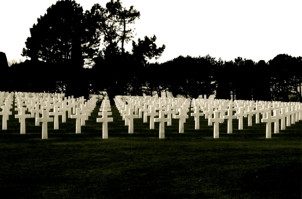 The Cemetery at the Normandie Beaches.