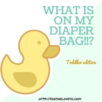 Diaper Bag Essentials - Toddler Edition
