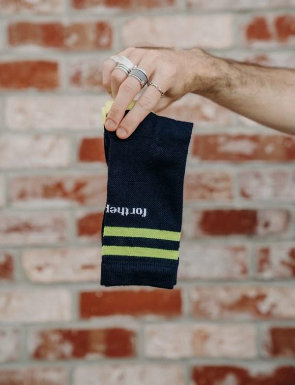 ftp. tall crew sock, black