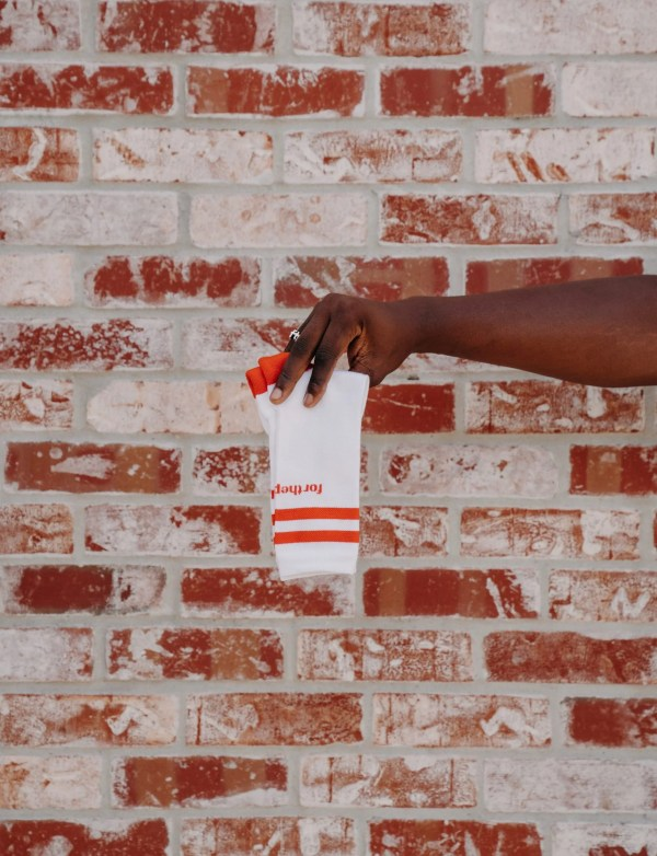 ftp. tall crew sock, orange