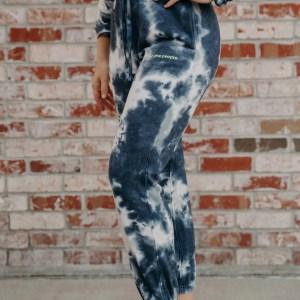 tie dye blue sweatpants