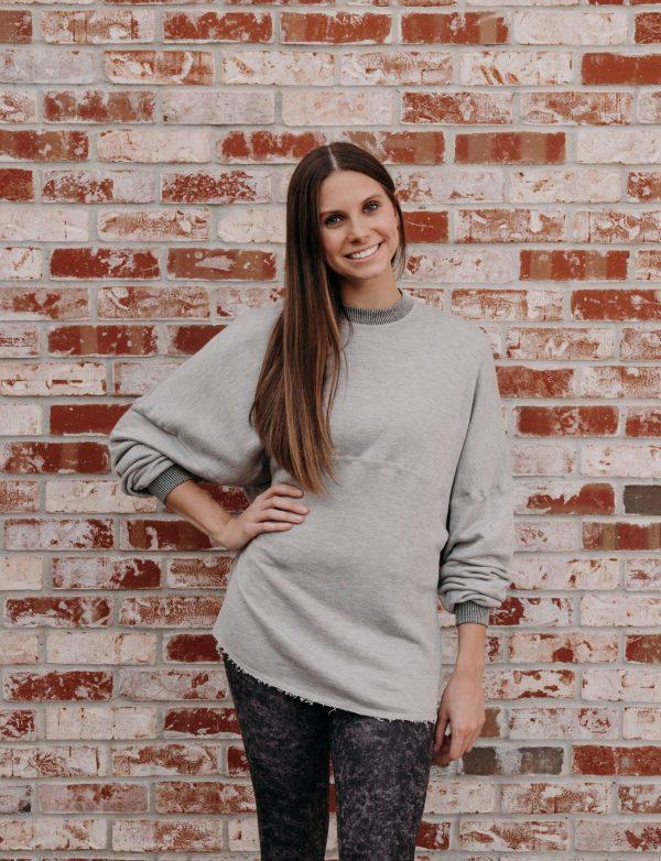 Reversible Sweatshirt - Gray