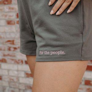 ftp. Women's Terry Sweatshort In Gray