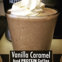 LOW-Calorie HIGH-Protein Vanilla Caramel Iced Coffee!