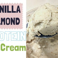 EASIEST Homemade Vanilla-Almond Protein Ice Cream