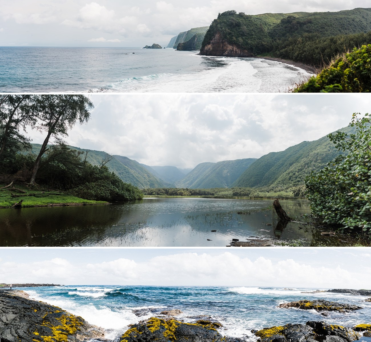 Collection of three panoramas taken on the big island of Hawaii by Forthright Photo