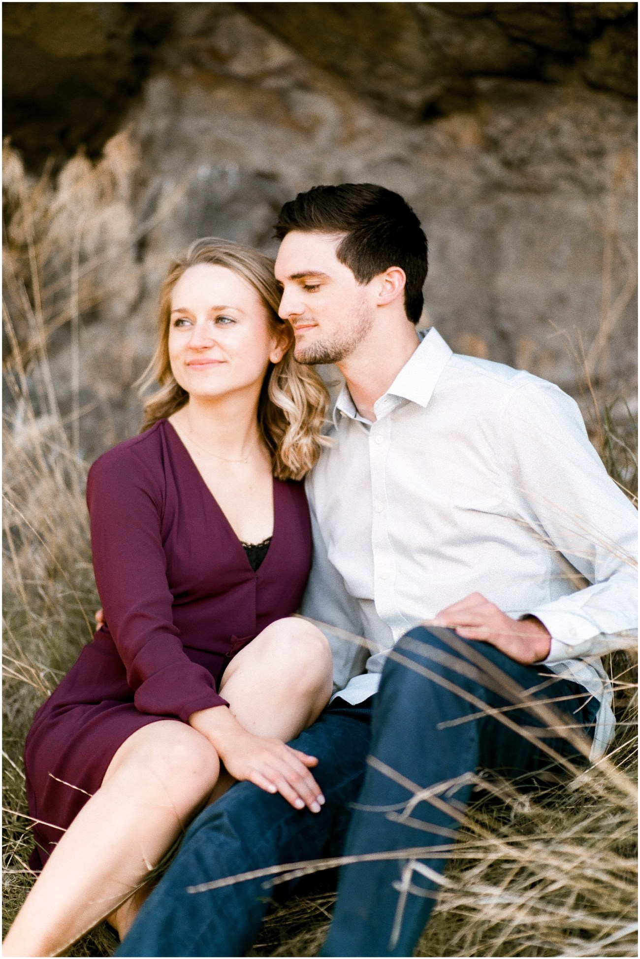 Photo of an engaged couple by Forthright Photo