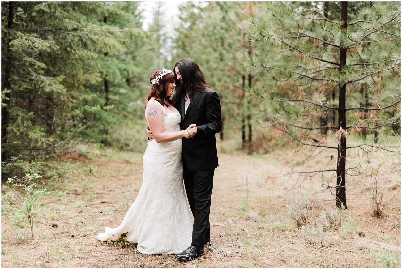 Photo of Daniel & Jennell's first look on a private venue in Omak, WA by Forthright Photo