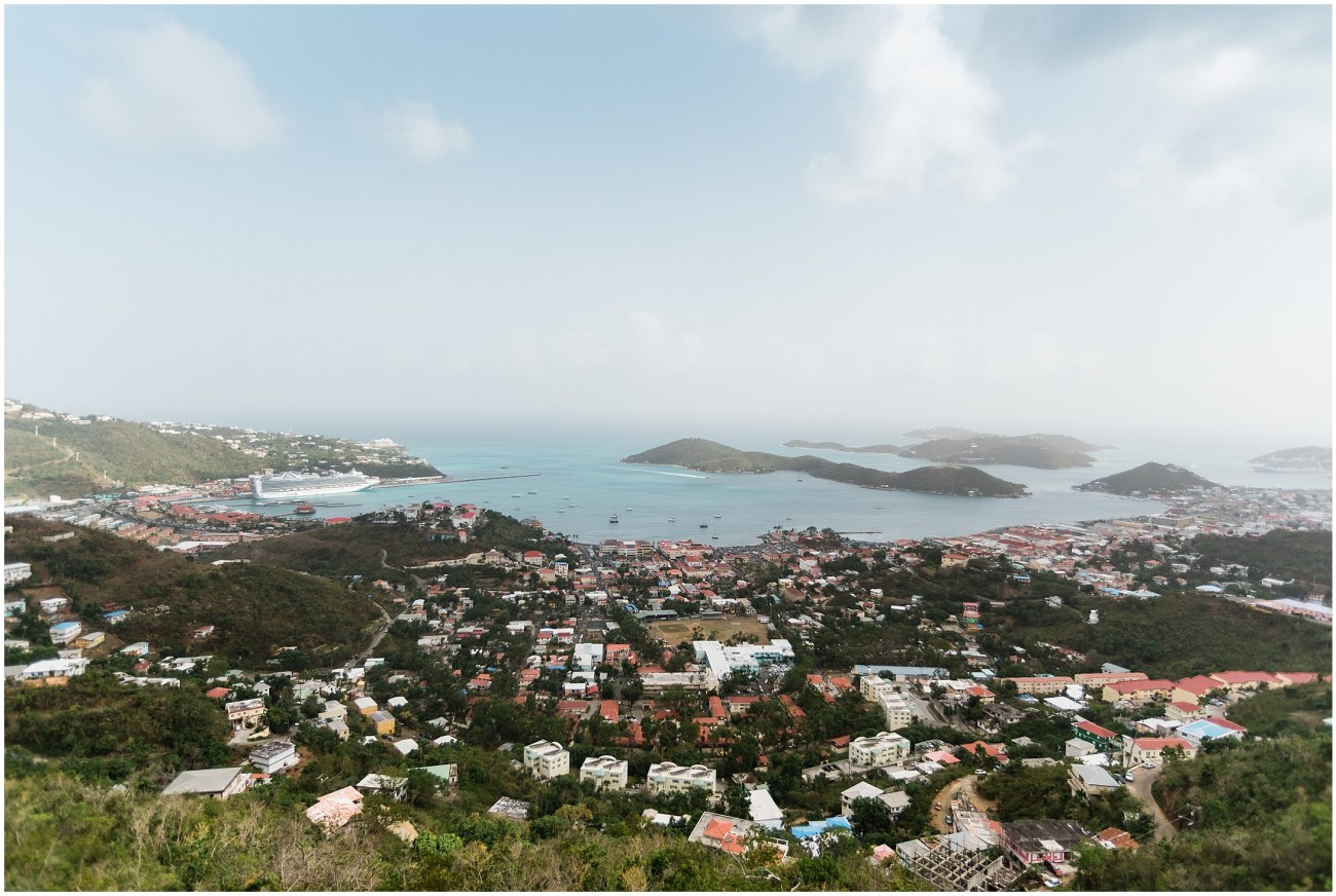 Panoramic View of Charlotte Amalie on St. Thomas, US Virgin Islands