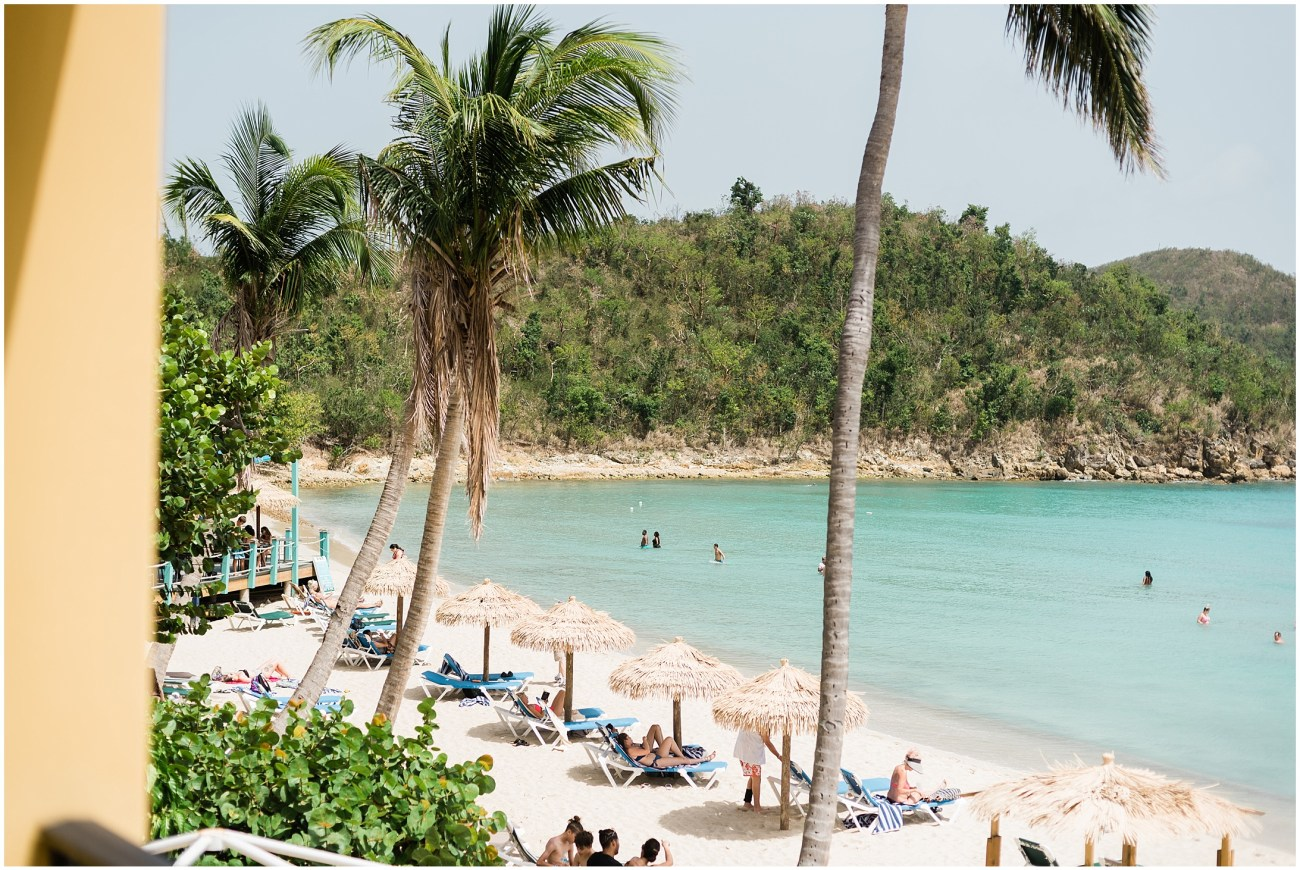 Photo of the Beach at Emerald Beach Resort on St. Thomas, US Virgin Islands