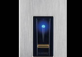 Fingerprint scanner unlocks panic room door