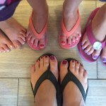 Little girl pedicures