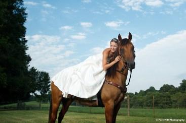 Equestrian Themed Trash The Dress