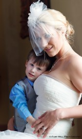 Bride and son