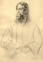 Tagore by Rothenstein (ca 1912).