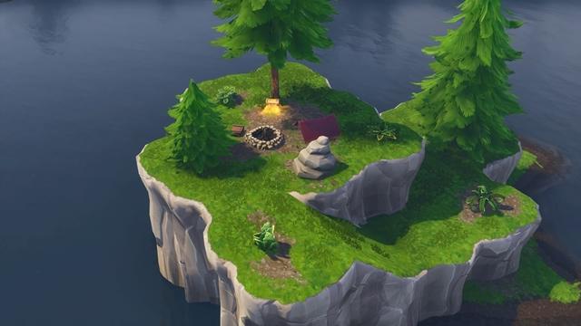 ルート・レイクの北側に浮かぶ島にある宝箱